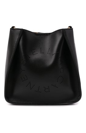 Женская сумка stella logo small STELLA MCCARTNEY черного цвета, арт. 700265/W8542 | Фото 1 (Материал: Текстиль, Экокожа; Размер: small; Сумки-технические: Сумки через плечо; Ремень/цепочка: На ремешке)