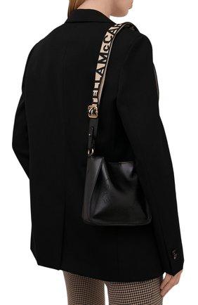 Женская сумка stella logo small STELLA MCCARTNEY черного цвета, арт. 700265/W8542 | Фото 2 (Материал: Текстиль, Экокожа; Размер: small; Сумки-технические: Сумки через плечо; Ремень/цепочка: На ремешке)