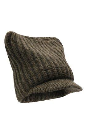Женская шапка из шерсти и кашемира STELLA MCCARTNEY хаки цвета, арт. 604031/S2273 | Фото 1 (Материал: Шерсть, Кашемир)
