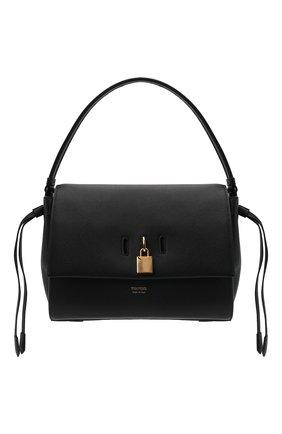 Женская сумка padlock medium TOM FORD черного цвета, арт. L1500T-LCL095   Фото 1 (Размер: medium; Материал: Натуральная кожа; Сумки-технические: Сумки top-handle; Ошибки технического описания: Нет ширины)