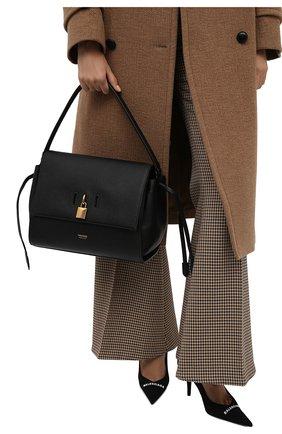 Женская сумка padlock medium TOM FORD черного цвета, арт. L1500T-LCL095   Фото 2 (Размер: medium; Материал: Натуральная кожа; Сумки-технические: Сумки top-handle; Ошибки технического описания: Нет ширины)