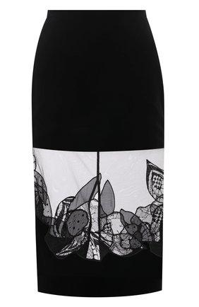 Женская юбка TOM FORD черного цвета, арт. GC5587-FAX855 | Фото 1 (Материал внешний: Купро, Вискоза; Длина Ж (юбки, платья, шорты): Миди; Материал подклада: Шелк; Стили: Гламурный; Женское Кросс-КТ: Юбка-одежда, Юбка-карандаш)