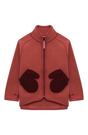 Детского куртка ushi MOLO коричневого цвета, арт. 5W21L205   Фото 1 (Материал внешний: Синтетический материал; Рукава: Длинные)