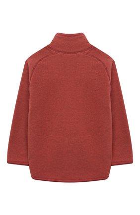 Детского куртка ushi MOLO коричневого цвета, арт. 5W21L205   Фото 2 (Материал внешний: Синтетический материал; Рукава: Длинные)