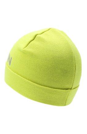 Детского шерстяная шапка BALMAIN желтого цвета, арт. 6P0767 | Фото 2 (Материал: Шерсть)
