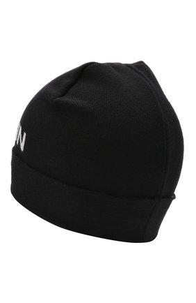 Детского шерстяная шапка BALMAIN черного цвета, арт. 6P0767 | Фото 2 (Материал: Шерсть)