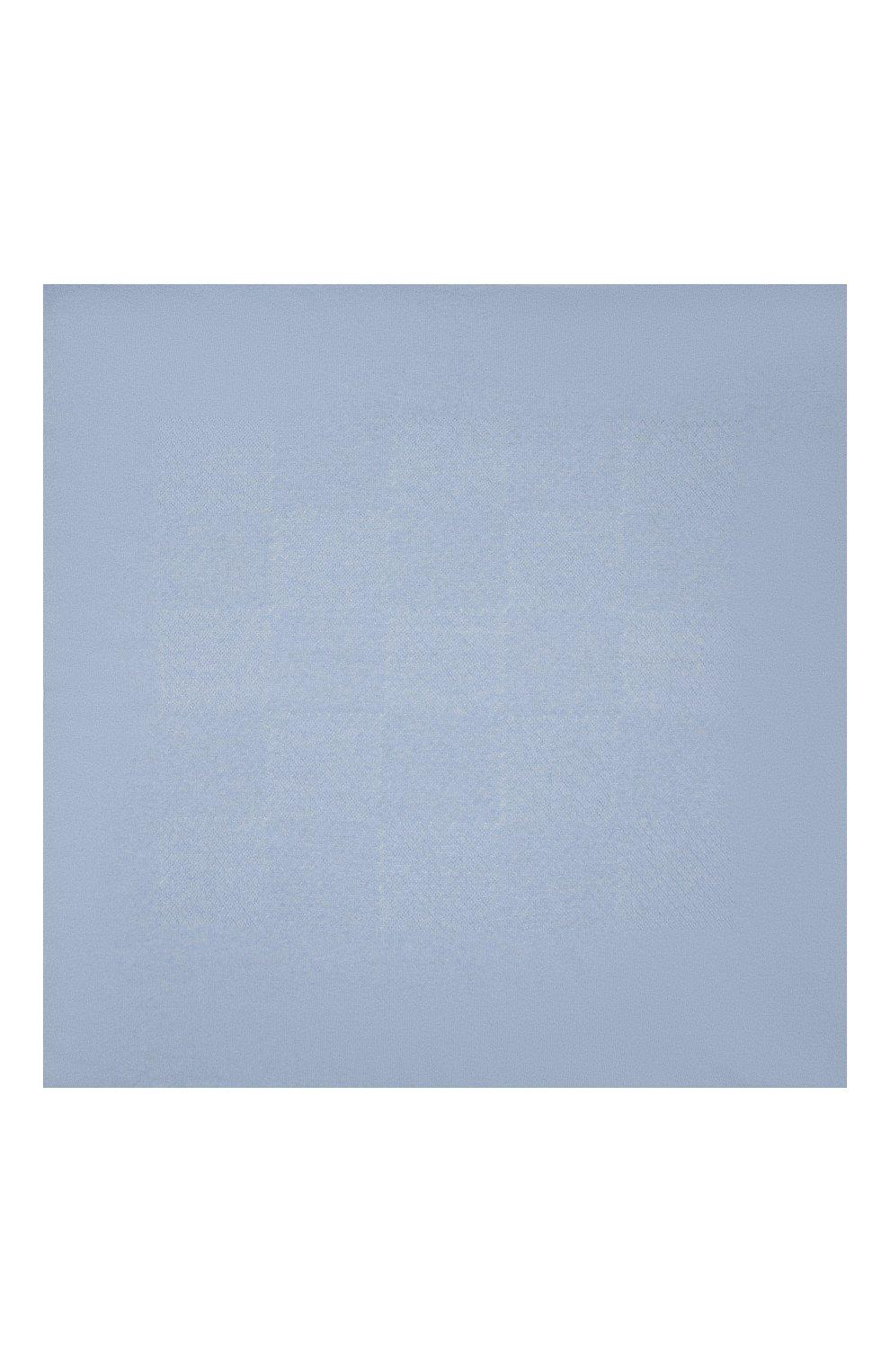 Детского шерстяной плед WOOL&COTTON голубого цвета, арт. KMLPL   Фото 2 (Материал: Шерсть)
