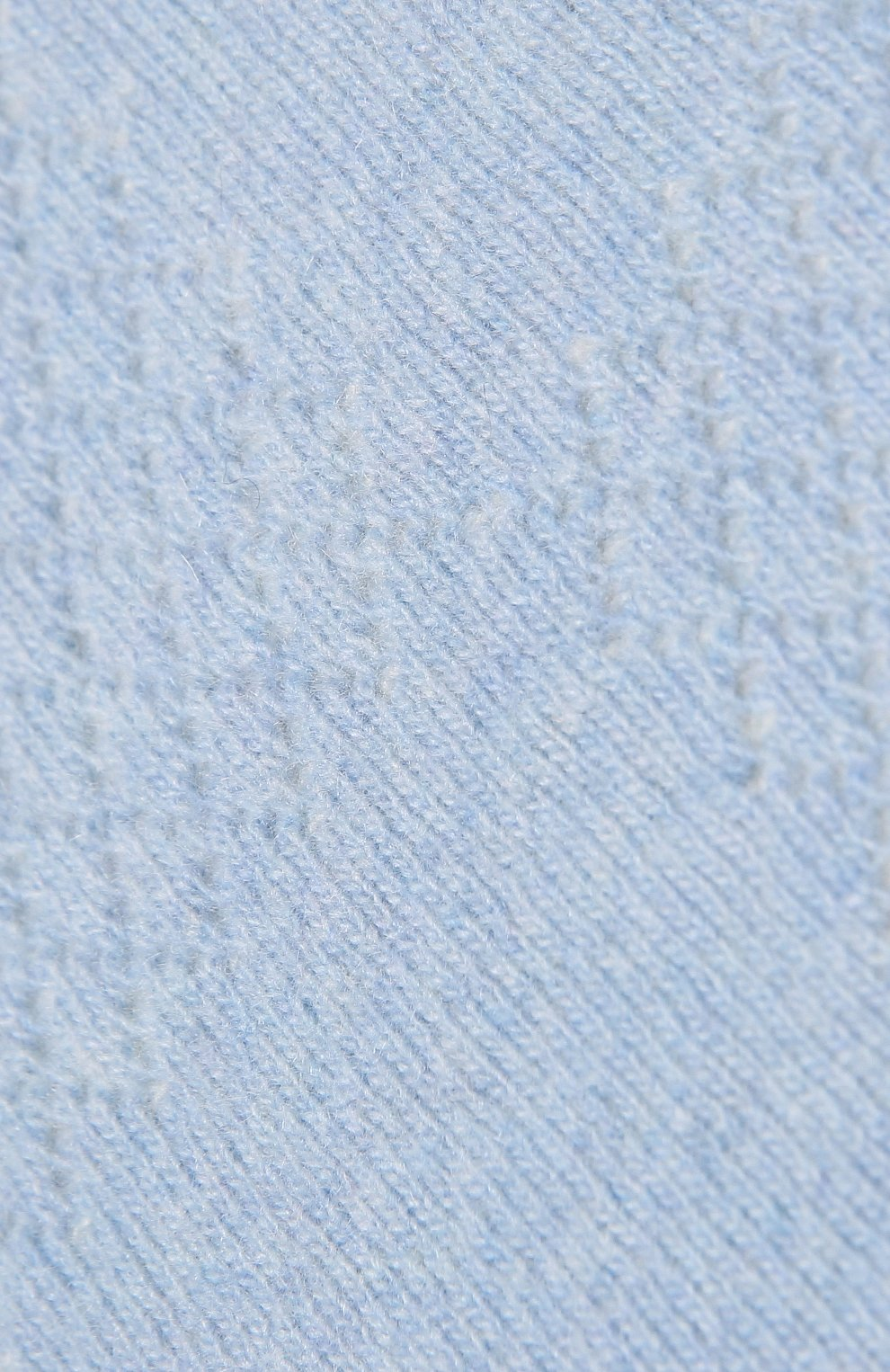 Детского шерстяной плед WOOL&COTTON голубого цвета, арт. KMLPL   Фото 3 (Материал: Шерсть)