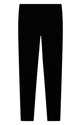 Детские шерстяные леггинсы WOOL&COTTON черного цвета, арт. ORUPO | Фото 1 (Материал внешний: Шерсть; Мальчики Кросс-КТ: Брюки-спорт)
