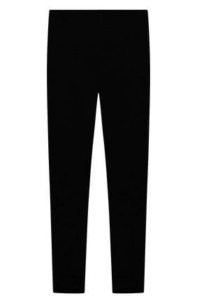Детские шерстяные леггинсы WOOL&COTTON черного цвета, арт. ORUPO | Фото 2 (Материал внешний: Шерсть; Мальчики Кросс-КТ: Брюки-спорт)