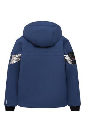Детского куртка с капюшоном POIVRE BLANC синего цвета, арт. 287037 | Фото 2 (Рукава: Длинные; Материал внешний: Синтетический материал; Кросс-КТ: Ветровка, Сезон: демисезон)