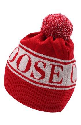 Детского шерстяная шапка CANADA GOOSE красного цвета, арт. 6959K   Фото 2 (Материал: Шерсть)