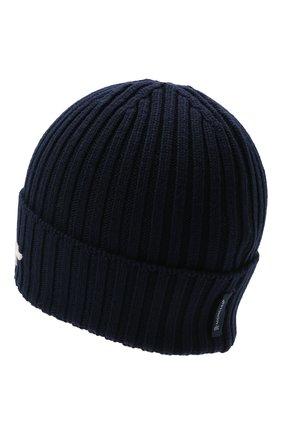 Детского шерстяная шапка MONCLER темно-синего цвета, арт. G2-954-9Z749-20-M1131   Фото 2 (Материал: Шерсть)