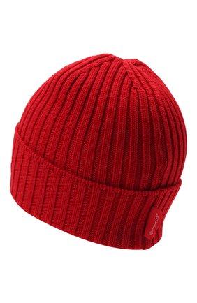 Детского шерстяная шапка MONCLER красного цвета, арт. G2-954-9Z749-20-M1131   Фото 2 (Материал: Шерсть)