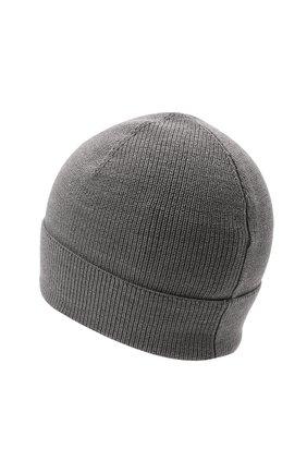 Детского шерстяная шапка MONCLER серого цвета, арт. G2-954-9Z731-00-A9632   Фото 2 (Материал: Синтетический материал, Шерсть, Текстиль)