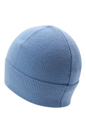 Детского шерстяная шапка MONCLER голубого цвета, арт. G2-954-9Z731-00-A9632   Фото 2 (Материал: Синтетический материал, Текстиль, Шерсть)