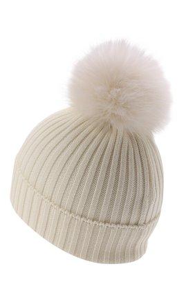 Детского шерстяная шапка MONCLER белого цвета, арт. G2-954-3B726-10-04S01 | Фото 2 (Материал: Шерсть)