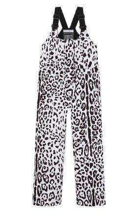 Детский лыжный комбинезон DOLCE & GABBANA черно-белого цвета, арт. L5JP7P/G7A6P/8-14   Фото 1 (Материал подклада: Синтетический материал; Материал внешний: Синтетический материал; Девочки Кросс-КТ: Комбинезон-верхняя одежда; Рукава: Короткие)