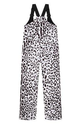 Детский лыжный комбинезон DOLCE & GABBANA черно-белого цвета, арт. L5JP7P/G7A6P/8-14   Фото 2 (Материал подклада: Синтетический материал; Материал внешний: Синтетический материал; Девочки Кросс-КТ: Комбинезон-верхняя одежда; Рукава: Короткие)