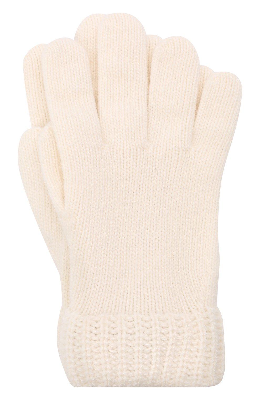 Детские перчатки WOOLRICH кремвого цвета, арт. CFWKAC0124FR/UF0603 | Фото 1 (Материал: Текстиль, Шерсть, Вискоза, Синтетический материал)