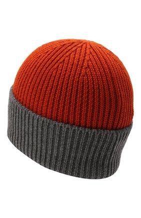 Детского шерстяная шапка WOOLRICH оранжевого цвета, арт. CFWKAC0106MR/UF0532 | Фото 2 (Материал: Шерсть, Текстиль, Синтетический материал)