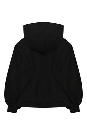 Детский хлопковая толстовка DOLCE & GABBANA черного цвета, арт. L5JW4R/G7BBX/8-14   Фото 2 (Материал внешний: Вискоза; Рукава: Длинные; Девочки Кросс-КТ: Толстовка-одежда)