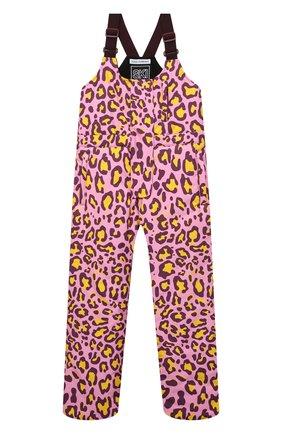 Детский лыжный комбинезон DOLCE & GABBANA розового цвета, арт. L5JP7P/G7A6P/8-14   Фото 1 (Материал внешний: Синтетический материал; Материал подклада: Синтетический материал; Девочки Кросс-КТ: Комбинезон-верхняя одежда; Рукава: Короткие)