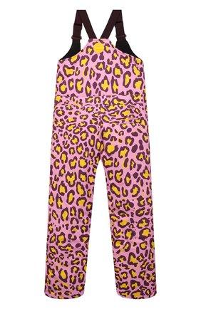 Детский лыжный комбинезон DOLCE & GABBANA розового цвета, арт. L5JP7P/G7A6P/8-14   Фото 2 (Материал внешний: Синтетический материал; Материал подклада: Синтетический материал; Девочки Кросс-КТ: Комбинезон-верхняя одежда; Рукава: Короткие)