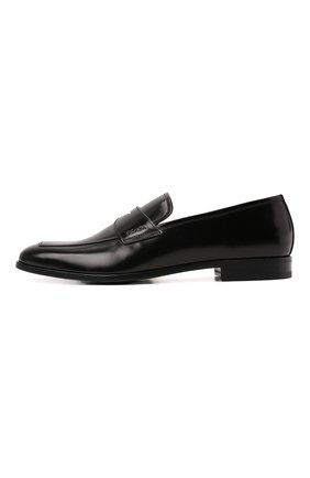 Мужские кожаные пенни-лоферы PRADA черного цвета, арт. 2DB161-P39-F0002-X001 | Фото 2