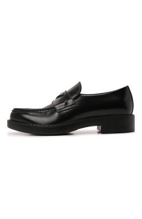 Мужские кожаные лоферы PRADA черного цвета, арт. 2DE131-055-F0002 | Фото 2