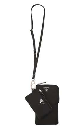 Мужской комплект из двух футляров PRADA черного цвета, арт. 2TT091-2DMI-F0002   Фото 1 (Материал: Текстиль, Синтетический материал; Кросс-КТ: обложки и футляры)
