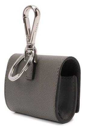 Кожаный чехол для airpods pro PRADA серого цвета, арт. 2TT133-2AHF-F0K44 | Фото 2