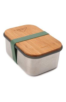 Мужской контейнер PRADA коричневого цвета, арт. 2UP002-2DMS-F0276-OOO   Фото 2 (Материал: Резина, Синтетический материал, Дерево, Текстиль)