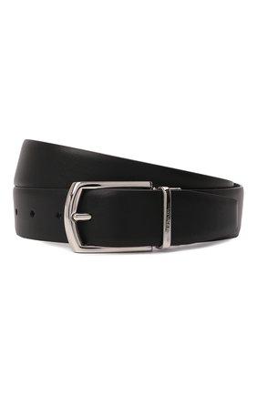 Мужской кожаный ремень PRADA черного цвета, арт. 2CC468-2DAE-F0002 | Фото 1 (Случай: Формальный)