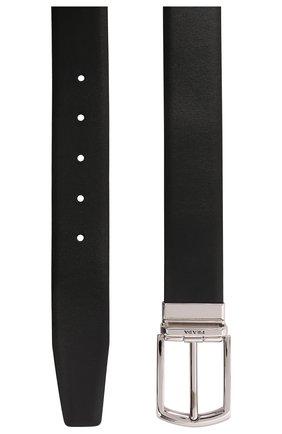 Мужской кожаный ремень PRADA черного цвета, арт. 2CC468-2DAE-F0002 | Фото 2 (Случай: Формальный)