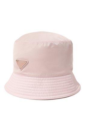 Женская панама re-nylon PRADA светло-розового цвета, арт. 1HC137-2DMI-F0E18 | Фото 1 (Материал: Текстиль, Синтетический материал)