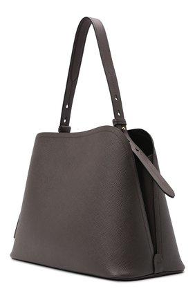 Женская сумка matinée PRADA коричневого цвета, арт. 1BA249-2ERX-F0KS4-OOO   Фото 2 (Материал: Натуральная кожа; Ремень/цепочка: На ремешке; Размер: large; Сумки-технические: Сумки top-handle)