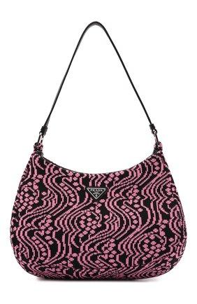 Женская сумка cleo PRADA розового цвета, арт. 1BC499-2DX1-F02JR-OOO | Фото 1 (Размер: medium; Материал: Текстиль; Сумки-технические: Сумки top-handle)