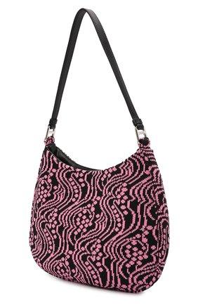 Женская сумка cleo PRADA розового цвета, арт. 1BC499-2DX1-F02JR-OOO | Фото 2 (Размер: medium; Материал: Текстиль; Сумки-технические: Сумки top-handle)