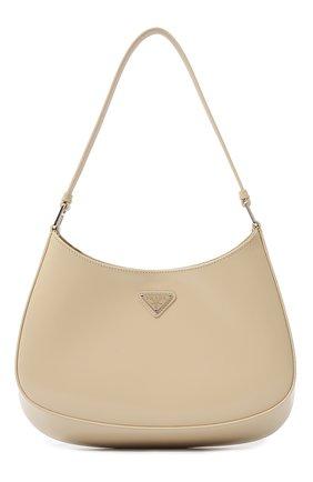 Женская сумка cleo PRADA бежевого цвета, арт. 1BC499-ZO6-F0F24-OOO   Фото 1 (Размер: medium; Материал: Натуральная кожа; Сумки-технические: Сумки top-handle)