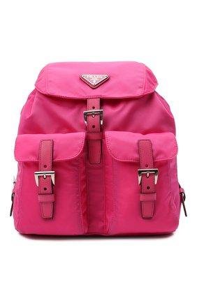 Женский рюкзак PRADA фуксия цвета, арт. 1BZ677-V44-F0ZS1-OOO | Фото 1 (Материал: Текстиль; Размер: medium; Стили: Спорт)