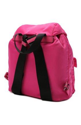 Женский рюкзак PRADA фуксия цвета, арт. 1BZ677-V44-F0ZS1-OOO | Фото 2 (Материал: Текстиль; Размер: medium; Стили: Спорт)