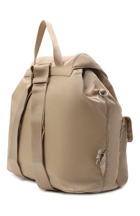 Женский рюкзак PRADA бежевого цвета, арт. 1BZ811-RV44-F0F24-OTO   Фото 2 (Материал: Текстиль; Размер: large; Стили: Спорт)