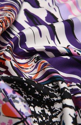 Женский шелковый платок PRADA сиреневого цвета, арт. 1FF001-2E4H-F0028 | Фото 2 (Материал: Шелк, Текстиль)