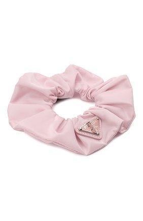 Женская резинка для волос re-nylon PRADA светло-розового цвета, арт. 1IF015-2DMI-F0E18 | Фото 2 (Материал: Текстиль, Синтетический материал)