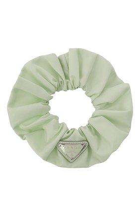 Женская резинка для волос re-nylon PRADA светло-зеленого цвета, арт. 1IF015-2DMI-F0934 | Фото 1 (Материал: Синтетический материал, Текстиль)