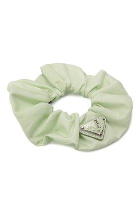 Женская резинка для волос re-nylon PRADA светло-зеленого цвета, арт. 1IF015-2DMI-F0934 | Фото 2 (Материал: Синтетический материал, Текстиль)