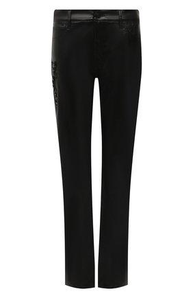 Женские джинсы RALPH LAUREN черного цвета, арт. 290845661   Фото 1 (Материал внешний: Хлопок; Длина (брюки, джинсы): Удлиненные; Стили: Гламурный; Кросс-КТ: Деним; Силуэт Ж (брюки и джинсы): Расклешенные)