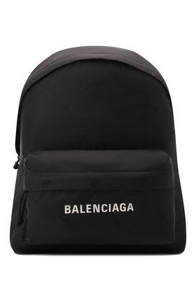 Женский рюкзак BALENCIAGA черного цвета, арт. 656081/2UA2X | Фото 1 (Стили: Спорт; Материал: Текстиль; Размер: large)