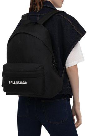 Женский рюкзак BALENCIAGA черного цвета, арт. 656081/2UA2X | Фото 2 (Стили: Спорт; Материал: Текстиль; Размер: large)